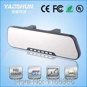 Free shipping Manufacture Bluetooth WIFI HD 1080P GPS Navigation Driver Recorder Hd Car Rearview Mirror DVR(China (Mainland))