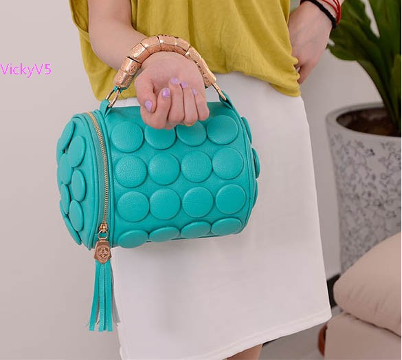 2015 New Fashion Women's Cylinder Lady Tassel Bucket Shoulder Bag Cross Body Hand Bag 5 Colors VY 17341