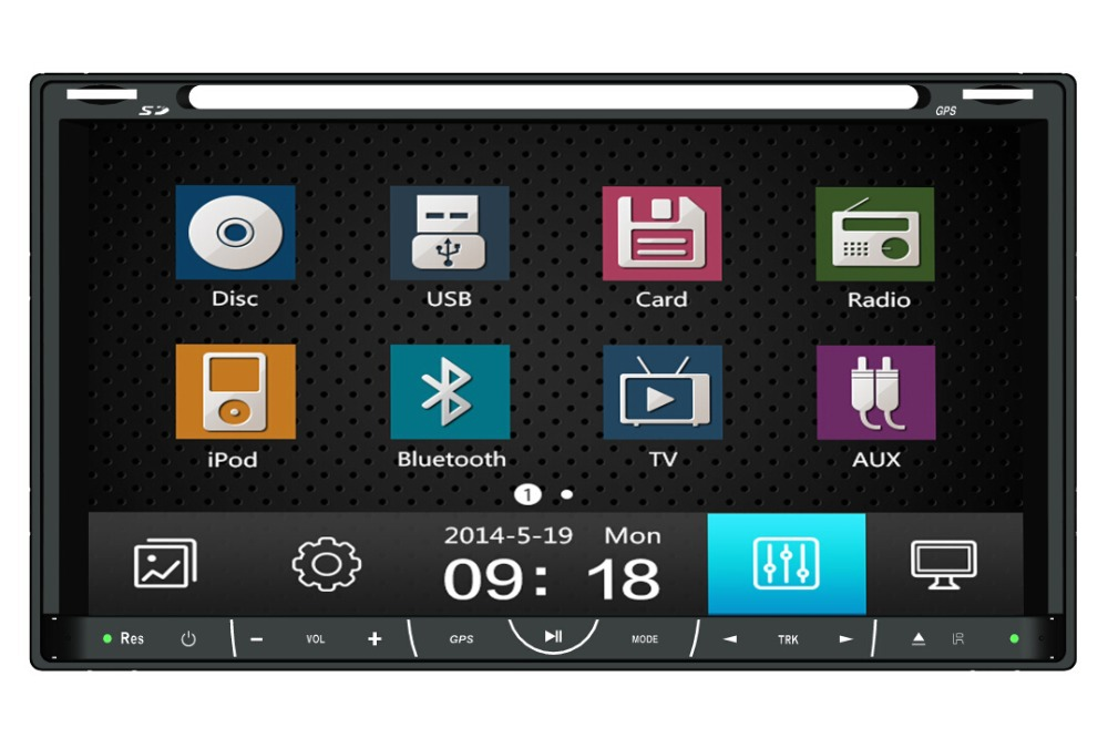 """2 Din 6.95"""" New universal Car Radio Double 2 din Car DVD Player GPS Navigation In dash Car PC Stereo video Free Map(China (Mainland))"""