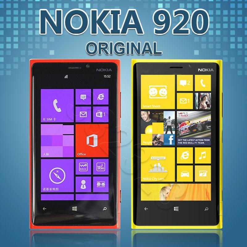 "Nokia Lumia 920 Original Unlocked Mobile Phone 8.7MP GPS OS Dual core 4.5 ""inch 32GB ROM NFC 4G Windows Phone Refurbished(China (Mainland))"