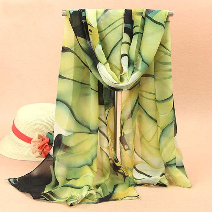 ODEMA Euro 2015 New Fashion Women Ladies Chiffon Scarf Soft Shawl Wrap Neck Warm Stole Scarves