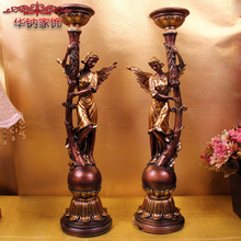2016 Sale Rushed Home Decoration Accessories Style Luxury Resin Crafts Angel Candle Holders Living Room Fashion Wedding Gifts(China (Mainland))