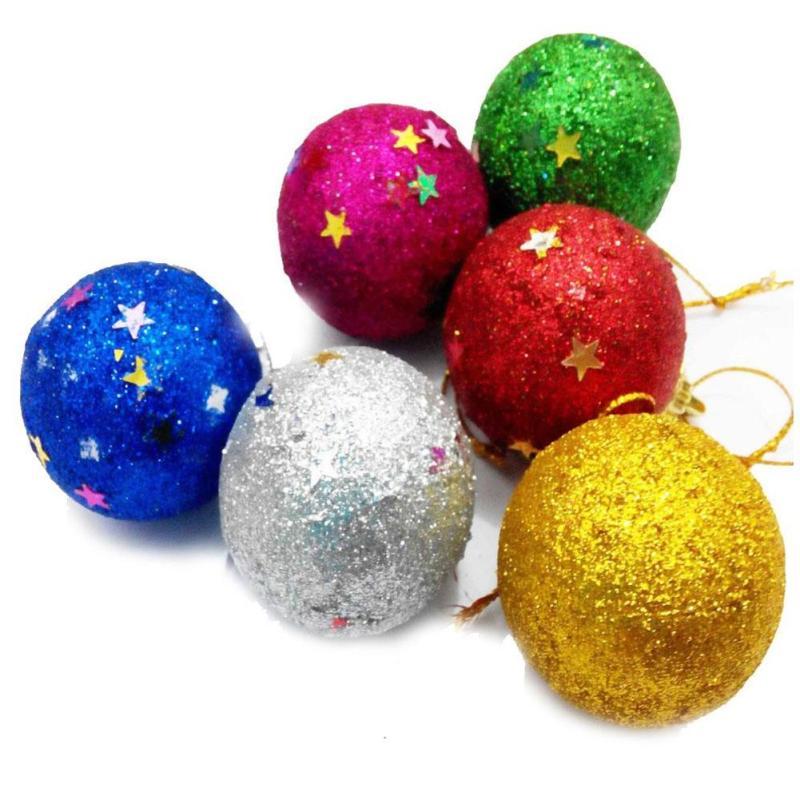 foam mixing gift glitter ball christmas ball decoration color christmas tree creative decorative ornaments christmas ball w5(China (Mainland))