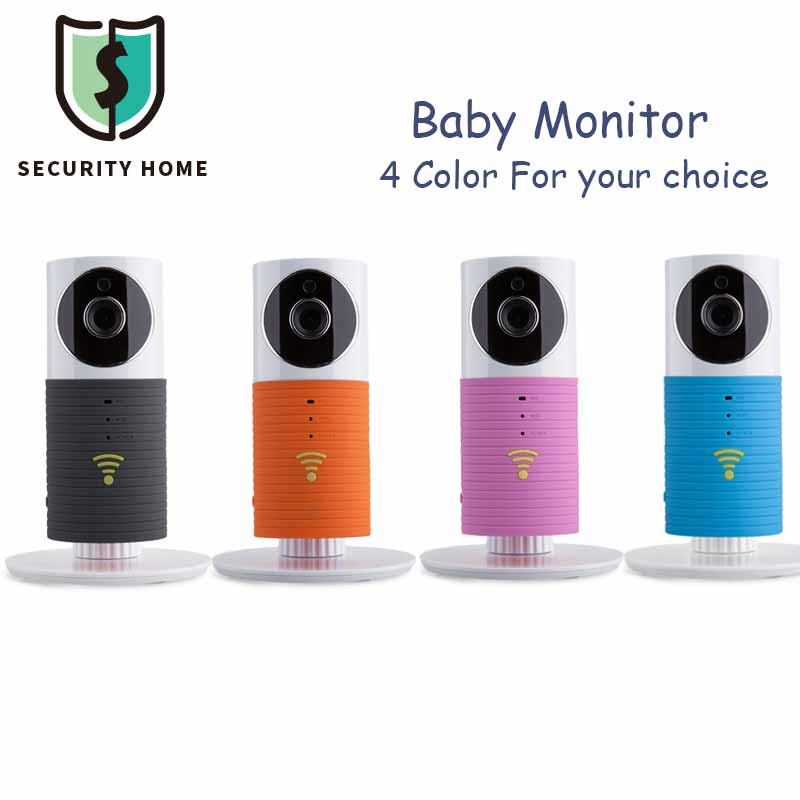 Home Security Infant Baby Clever Dog Baby Monitor Mini Wifi Wireless Camera Night Vision Two-way Audio For iOS Android 4 Color(China (Mainland))