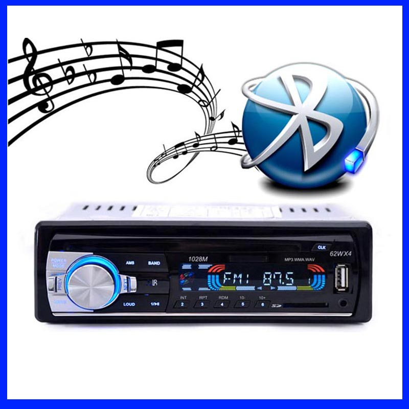 2016 New 12V Car Radio BLUETOOTH autoradio 1-Din Stereo fm transmitter USB/SD AUX Audio MP3 Player Car in Dash 60Wx4 for phone(China (Mainland))