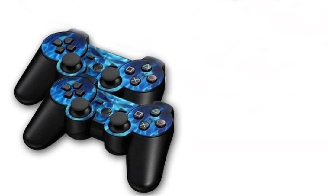 Blue Skull Sticker Decal For PS3 Slim Playstation 3 Console Controller Cover Decals Protecter Fashion(China (Mainland))