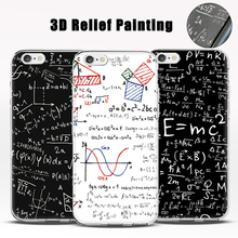 Mobile Cover for iPhone 6s + 6plus Case Phone 5 5S SE coque de telephone Math Physics Formula Style