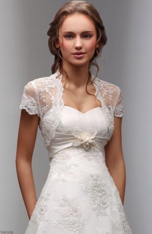 larrive de nouveaux manches courtes blanc ivoire veste de mariage dentelle chle bolero wrap nuptiale personnalis 2016 - Bolro Mariage Ivoire