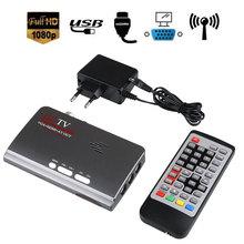 HDMI HD 1080 P DVB-T2 TV Box VGA AV CVBS VGA Sintonizador Receptor Con Mando a distancia