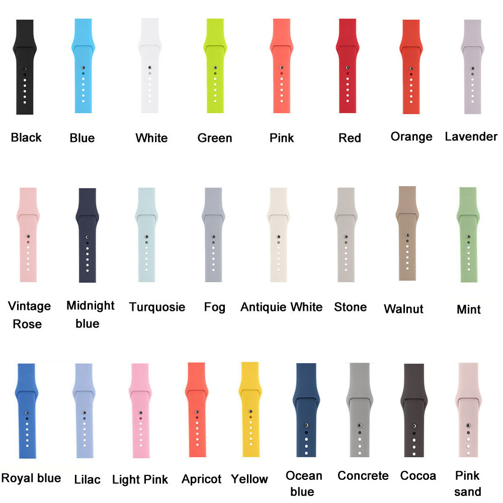 20~27Day Delivery++ 25 Colors 42MM 38MM Silicone Sport ...