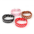 Bling Rhinestone PU Leather Crystal Diamond Pet Dog Cat Puppy Collar XS