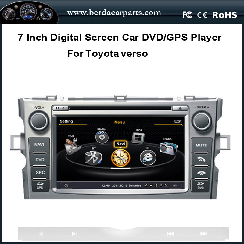 7 Inch Touch Screen Car Radio For Toyota Verso With DVD GPS Navigation BT Radio Free Map(China (Mainland))