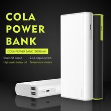 РОК Кола Power Bank 10000 мАч Externalbattery Обновления Портативное Зарядное Устройство Dual USB Выход Для Сотовых Телефонов Tablet PC(China (Mainland))