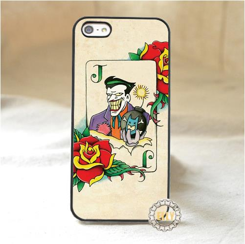 joker old school tattoo fashion mobile phone case cover for iphone 4 4s 5 5s 5c 6 6 plus 6s 6s plus *oo48(China (Mainland))