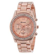 Marca de relojes de lujo para hombre de ginebra 3 colores negocios cuarzo de la muñeca oro relojes hombres con 3 diales Relogios Masculino para el regalo