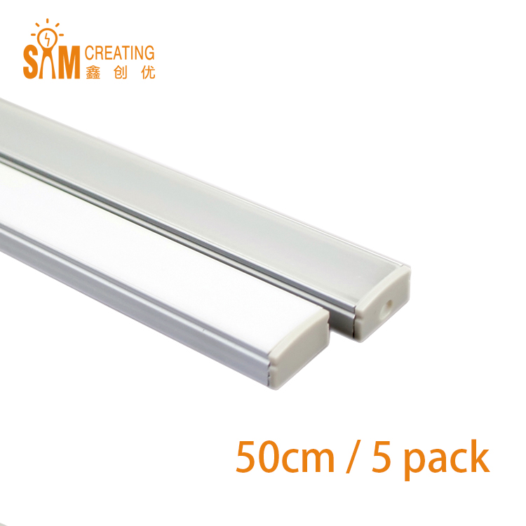 5pcs Free Shipping 0.5M Super Slim Recessed Aluminum LED Profile without Flange Using for Strip within 12mm(China (Mainland))