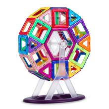 46 шт. Большой размер магнитного строительные блоки колесо обозрения Кирпич дизайнер Просветить Кирпичи магнитные игрушки детские подарок на день рождения(China (Mainland))