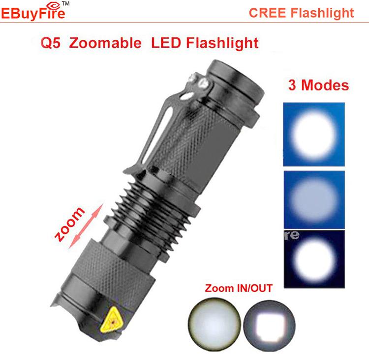 Mini Flashlight 2000LM LED Torch AA 14500 LED flash light ZOOM 7W Waterproof 3 Modes LED mini Torch battery Lamp(China (Mainland))