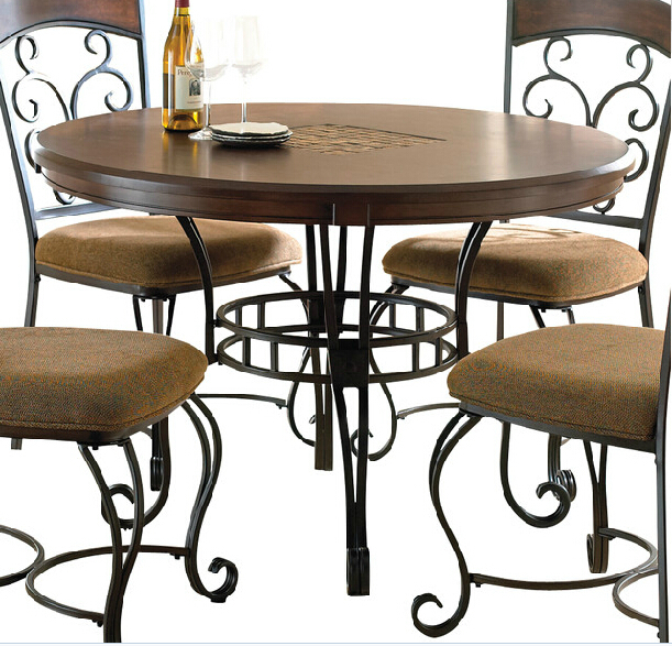 American country to do the old wrought iron frame retro old pine cozy upscale French dining table desk(China (Mainland))