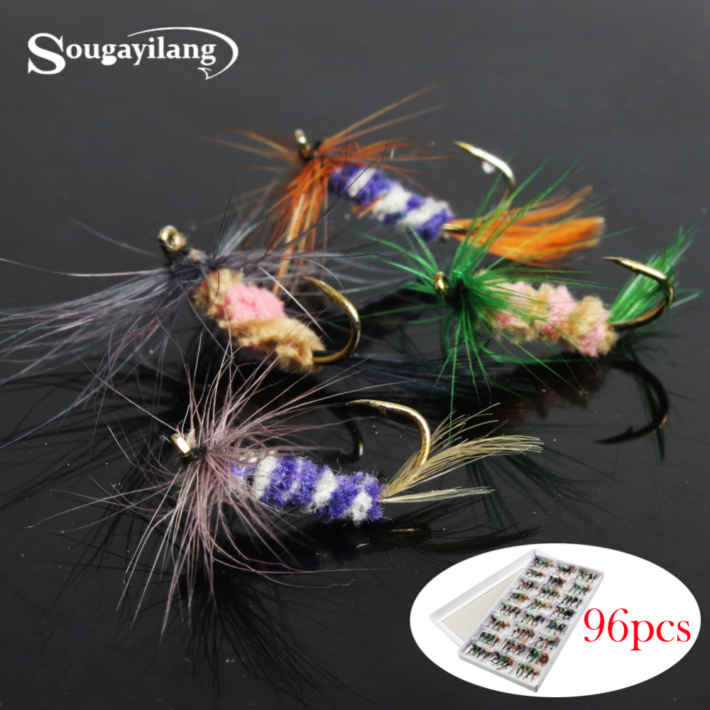 Promotion 924Box Fly Fishing Hooks Mosquitoes Style Lure Feather Steel Bait Hook - Gada Tackle Trade Co., Ltd. store