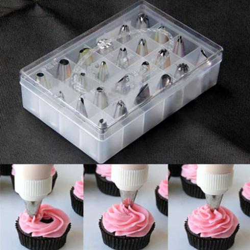 24Pcs/Set Box Set Icing Piping Nozzles Pastry Tips Cupcake ...