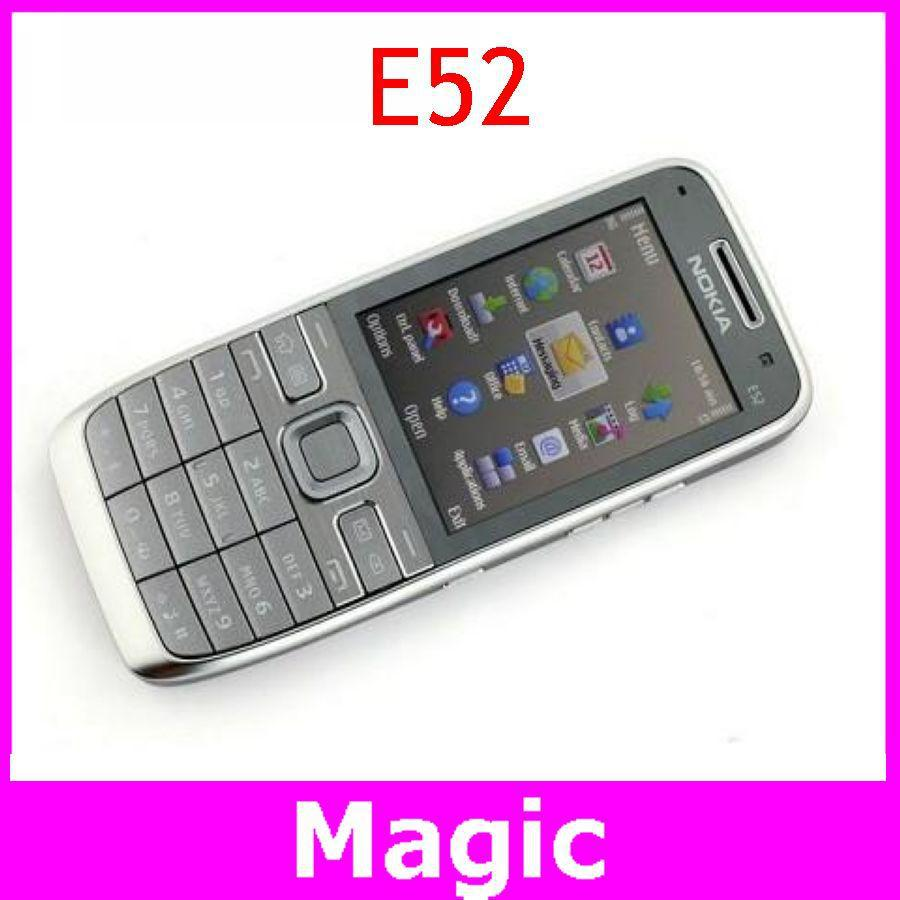 Original Unlocked Nokia E52 Mobile Phone WIFI GPS JAVA 3.2 MP Camera with Russian Arabic Keyaboard Free Shipping In Stock(China (Mainland))