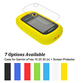 Hiking Handheld GPS Navigator Accessories Silicon Rubber Case LCD Screen Protector for Garmin eTrex 10 20