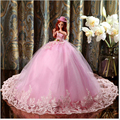45cm Girl Toy trend Princess Bridal Delicate Pink Cartoon Characters Doll Wedding Doll Wedding Gift Girl
