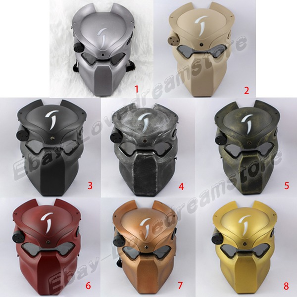 Japanese Animation Alien vs Predator Strike Protection LED lighted 26cm Mesh PVC Mask Cosplay NB