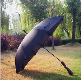 Straight shank factory direct creative lifelike oversized rifle umbrella support wholesale(China (Mainland))