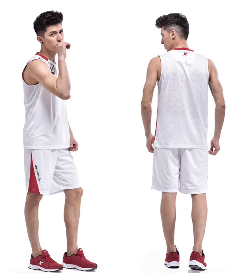 Xtep Men's Team USA College Basketball Jerseys and Shorts Uniforms Blue White Professional Throwback Jerseys Free Shipping(China (Mainland))