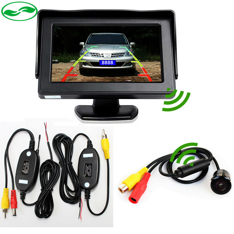 "Wireless Car Parking Monitor Camera System, Mini CCD Auto Rear View Camera + 4.3 "" LCD Car Monitor + 2.4GHz Wireless Video Kit(China (Mainland))"