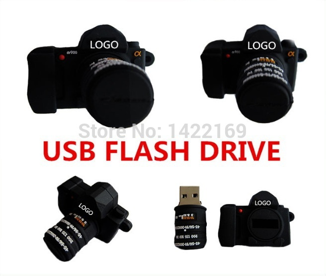 new arrival 4GB 8GB 16GB 32GB 64GB pendrive silicone Mini black camera usb flash drive Pen drive Memory stick lovely U Disk top(China (Mainland))