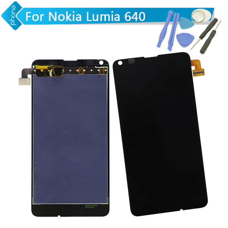 Original For Microsoft Nokia Lumia 640 LCD Display Touch Digitizer Screen Assembly +Tools Free Shipping