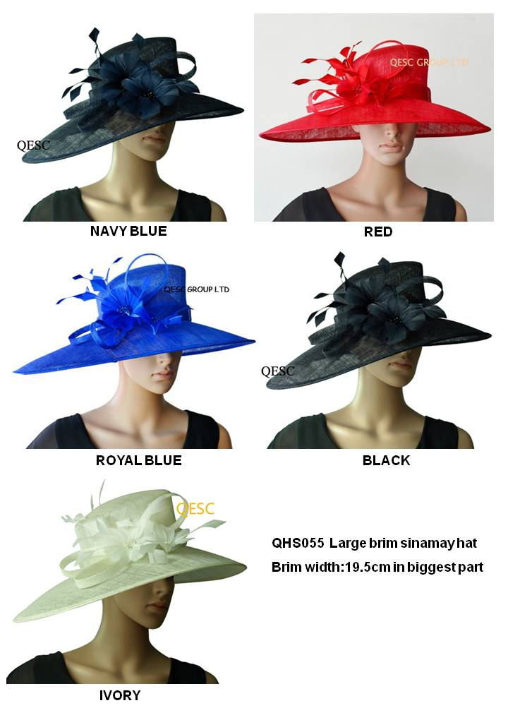 LARGE BRIM dress Sinamay Hats Church hats,for races,Melbourne cup,wedding kentucky derby(China (Mainland))
