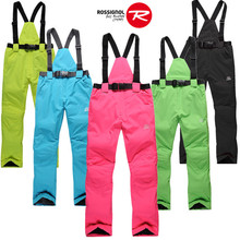 Men&Women Unsex ski pants windproof&waterproof breathe freely -30 warm snowboard trousers Suspended pants Black/Yellow/Red/Green