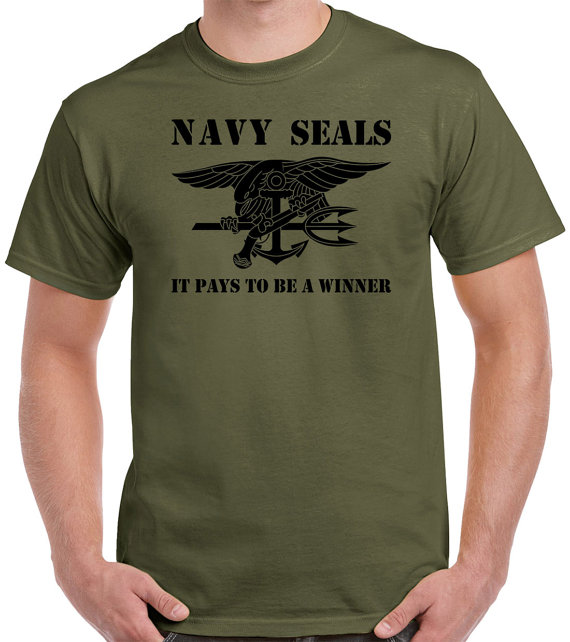Navy SEALs T shirt men Sprcial forces army short sleeve two sides tee US plus size S-3XL(China (Mainland))