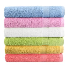 Bath Towel 100% Cotton 50x80cm 1 PCS/Lot 6 Color toalha de banho Free Shipping Towel Solid Plain Dyed Quick-Dry Face Towel Woven(China (Mainland))