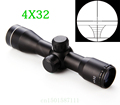 Free shipping Tactical 4X32 Air Rifle Optics Sniper Scope Compact Riflescopes hunting scopes with 20mm 11mm