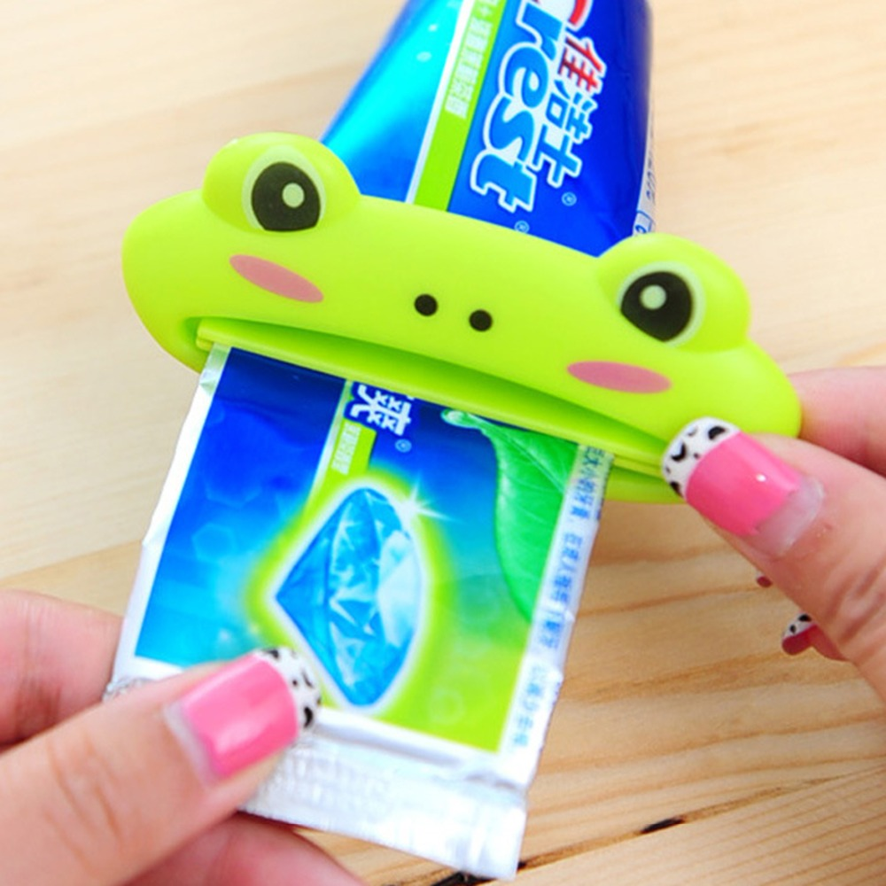 Cute Cartoon Animal Bathroom Set Accessories Rolling Tube Tooth Paste Squeezer Toothpaste Dispenser Bathroom Products(China (Mainland))