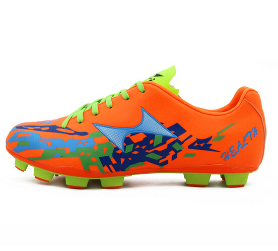 Men Soccer Shoes Superfly Outdoor Cleats Football Boots High Quality Soft Orange Green Shoe Free Shipping(China (Mainland))