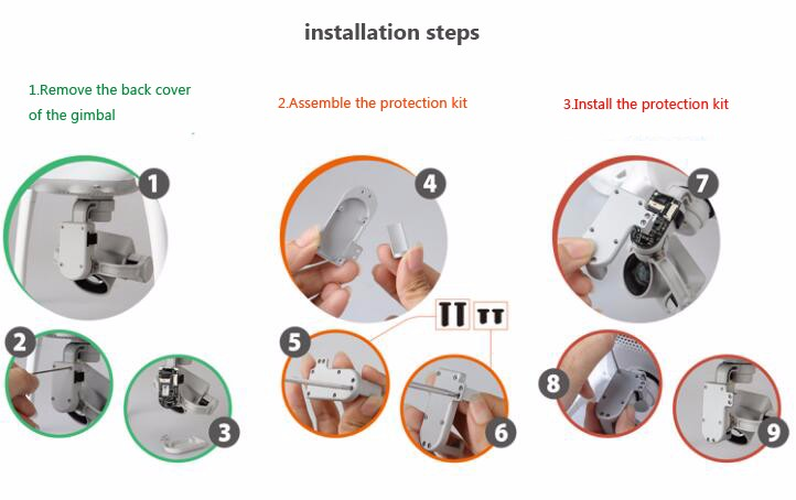 CNC Aluminium alloy Gimbal cable cover housing protection kit spare parts for DJI Phantom 4 RC Drone