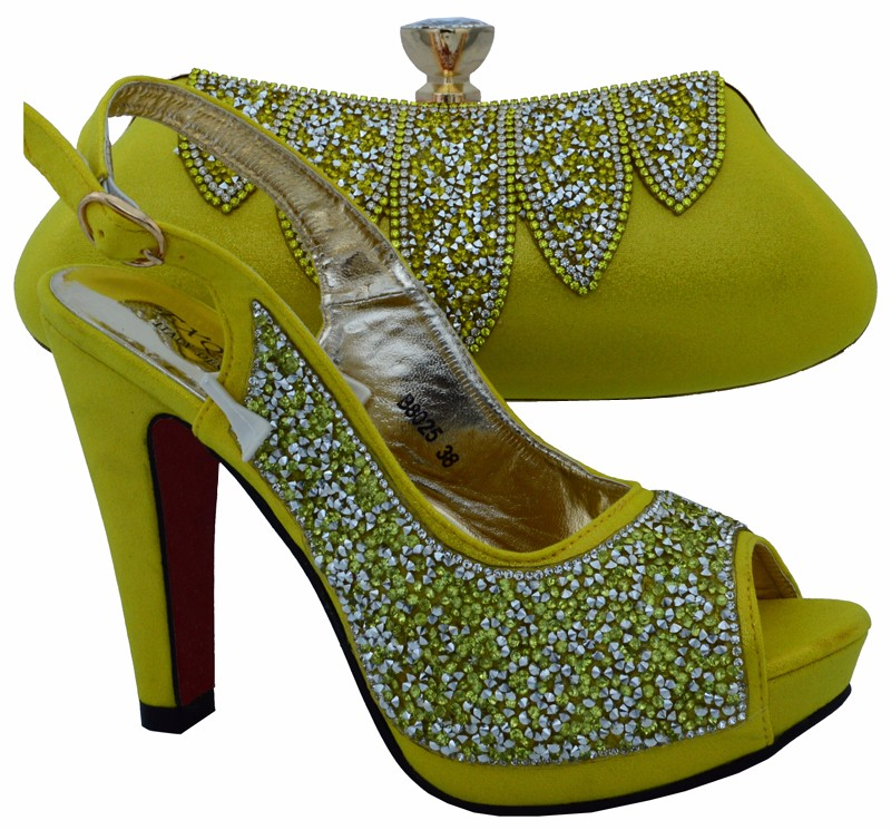 Shoe And Bag Set High Quality Italian Shoe With Matching Bag For Wedding Ladies Matching Shoe And Bag with Italy Design