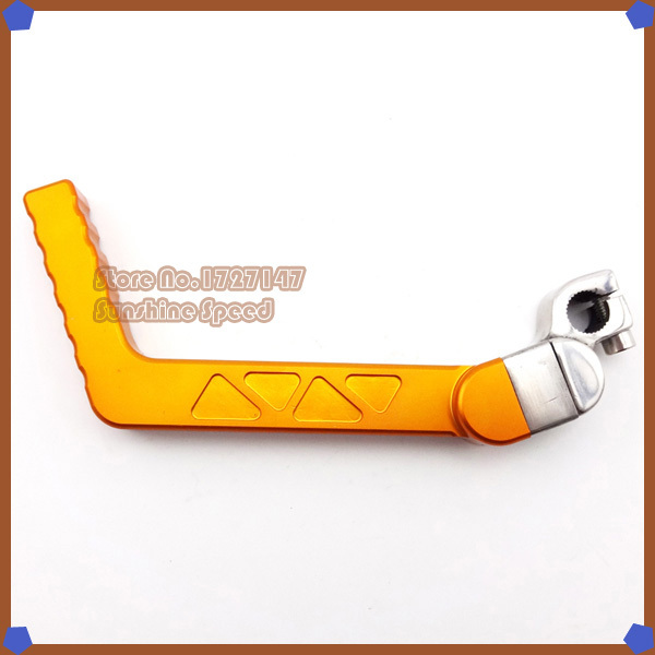 CNC Kick Start Starter Lever Gold For 50cc 70cc 90cc 110cc 125cc Pit Dirt Bike Motocross Motorcycle(China (Mainland))