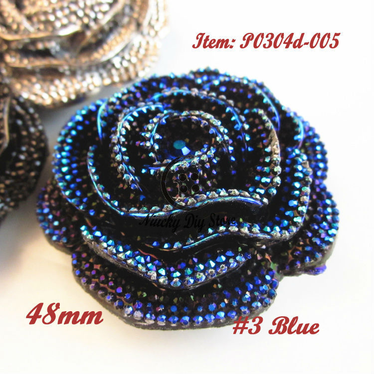 12pcs 48mm 1 color / mixed color rose buttons dinner dress accessories decorative buckle corsage fur coats big buttons wholesale(China (Mainland))