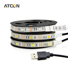 Buy Waterproof / Non-Waterproof 5050 DC5V RGB USB LED Strip light String 50cm 1M 2M LED lamp Tape TV Background Decor lighting for $1.99 in AliExpress store