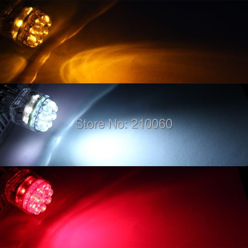 15 LED Car Brake Front Turn Signal 7440 7440A T20 992 Light Bulb Lamp Red parking car styling light source - UFavors store