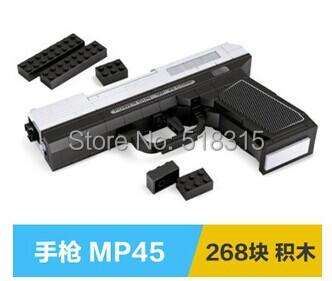 268+pcs children gift Assembling building block CSCF Cross Fire game weapon toy guns pistol MP-45 22510 - small items store