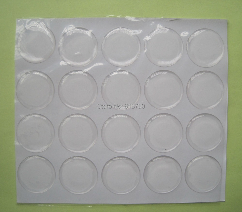Free Shipping by DHL 1 inch 25.4mm Clear Round 3D Dome Circle Stickers Epoxy Stickers Dome Resin self Adhesive Stickers 2000pcs(China (Mainland))