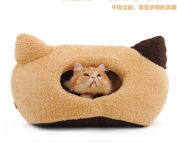 New fashion pet dog cat warm soft kennels doggy autumn winter litter puppy nest dogs cats house pets bed 1pcs pets supplies(China (Mainland))